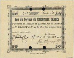 50 Francs FRANCE régionalisme et divers SAINT MARTIN VALMEROUX 1914 JPNEC.15.15 TTB