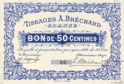 50 Centimes FRANCE régionalisme et divers ROANNE 1914 JPNEC.42.49 SPL