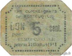 5 Centimes FRANCE régionalisme et divers MONTCUQ 1916 JPNEC.46.20 TTB