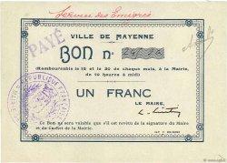 1 Franc FRANCE régionalisme et divers MAYENNE 1914 JPNEC.53.03 SUP