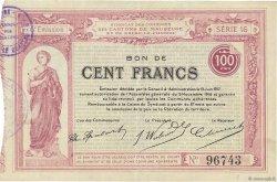 100 Francs FRANCE régionalisme et divers  1917 JPNEC.59.1831 SUP