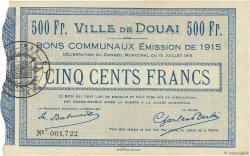 500 Francs FRANCE régionalisme et divers DOUAI 1915 JPNEC.59.738 SPL