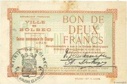 2 Francs FRANCE régionalisme et divers BOLBEC 1914 JPNEC.76.07 TTB+