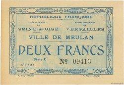2 Francs FRANCE régionalisme et divers MEULAN 1920 JPNEC.78.38 SUP