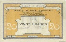 20 Francs FRANCE régionalisme et divers AULT 1914 JPNEC.80.09 SUP