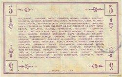5 Francs FRANCE régionalisme et divers PÉRONNE 1915 JPNEC.80.416 TTB