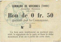 50 Centimes FRANCE régionalisme et divers VOYENNES 1915 JPNEC.80.630 TB