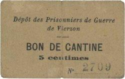 5 Centimes FRANCE régionalisme et divers VIERZON 1914 JPNEC.18.33 TTB