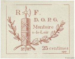 25 Centimes FRANCE régionalisme et divers MONTOIRE 1917 JPNEC.41.09 SUP