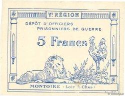 5 Francs FRANCE régionalisme et divers MONTOIRE 1917 JPNEC.41.11 SUP