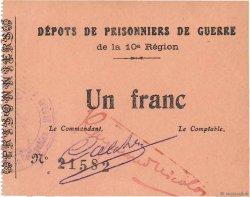 1 Franc FRANCE régionalisme et divers COËTQUIDAN 1914 JPNEC.56.02 SPL