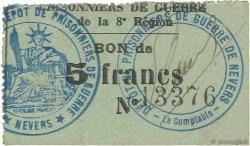 5 Francs FRANCE régionalisme et divers NEVERS 1914 JPNEC.58.05 SUP
