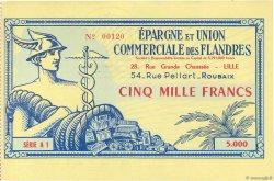 5000 Francs FRANCE régionalisme et divers LILLE 1955