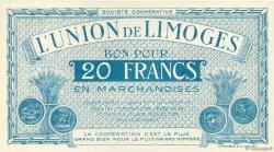 20 Francs FRANCE régionalisme et divers Limoges 1920  pr.NEUF