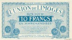 10 Francs FRANCE régionalisme et divers LIMOGES 1920  NEUF