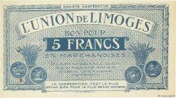 5 Francs FRANCE régionalisme et divers LIMOGES 1920  SUP