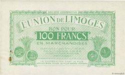 100 Francs FRANCE régionalisme et divers LIMOGES 1920  SUP