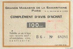 1 NF sur 100 Francs FRANCE régionalisme et divers PARIS 1960  TTB