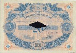20 Francs FRANCE régionalisme et divers Roanne 1929  pr.SUP