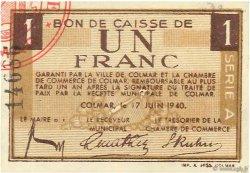 1 Franc FRANCE régionalisme et divers COLMAR 1940 K.013 NEUF