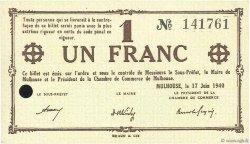 1 Franc FRANCE régionalisme et divers MULHOUSE 1940 K.063 SPL