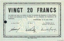 20 Francs FRANCE régionalisme et divers Mulhouse 1940 K.071 pr.NEUF