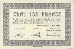 100 Francs FRANCE régionalisme et divers MULHOUSE 1940 K.073 SPL