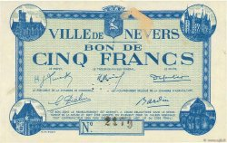 5 Francs FRANCE régionalisme et divers NEVERS 1940 K.088 SUP