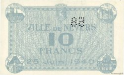 10 Francs FRANCE régionalisme et divers Nevers 1940 K.089 SPL