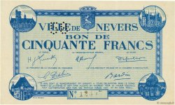 50 Francs FRANCE régionalisme et divers NEVERS 1940 K.090 SPL