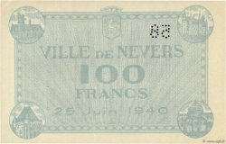100 Francs FRANCE régionalisme et divers NEVERS 1940 K.091 SPL