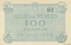 100 Francs FRANCE régionalisme et divers Nevers 1940 K.091 SPL