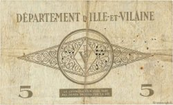 5 Francs FRANCE régionalisme et divers Rennes 1940 K.094 TB