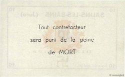 10 Francs FRANCE régionalisme et divers Salins-Les-Bains 1940 K.113b NEUF