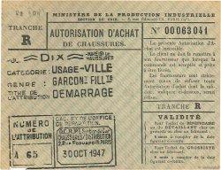 10 Chaussures FRANCE régionalisme et divers  1947  SUP