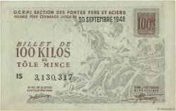 100 Kilos de Tôle mince FRANCE régionalisme et divers  1948  SUP