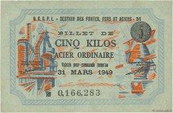 5 Kilos Acier ordinaire FRANCE régionalisme et divers  1949  SPL