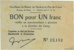 1 Franc FRANCE régionalisme et divers BRUAY 1945 K.067.01a TTB