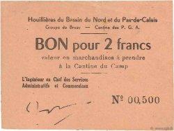 2 Francs FRANCE régionalisme et divers Bruay 1945 K.067.02 TTB