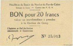 20 Francs FRANCE régionalisme et divers Bruay 1945 K.067.05a SPL