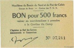 500 Francs FRANCE régionalisme et divers Bruay 1945 K.067.09a SPL
