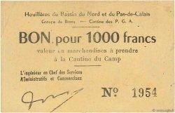 1000 Francs FRANCE régionalisme et divers Bruay 1945 K.067.10b SUP