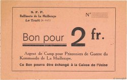 2 Francs FRANCE régionalisme et divers LE TRAIT 1940 K.076.03b SUP