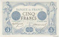 5 Francs NOIR essai avec filigrane FRANCE  1872 F.01.00 SPL