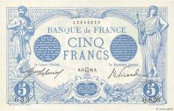 5 Francs BLEU FRANCE  1912 F.02.07 NEUF