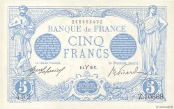 5 Francs BLEU FRANCE  1916 F.02.37 SUP à SPL