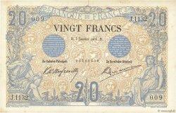 20 Francs NOIR FRANCE  1905 F.09.04 TTB+