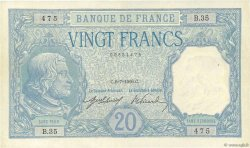 20 Francs BAYARD FRANCE  1916 F.11.01 TTB à SUP