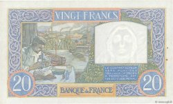 20 Francs SCIENCE ET TRAVAIL FRANCE  1939 F.12.01 pr.SPL
