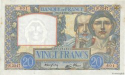 20 Francs TRAVAIL ET SCIENCE  FRANCE  1941 F.12.13 SPL
